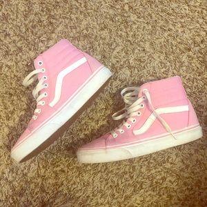 Pink & White High Top VANS Sneakers 7.5